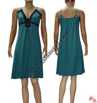 Fine rib string dress