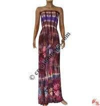 Tie-dye viscose tube mini dress