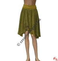 Lycra belt triangle shape rib skirt