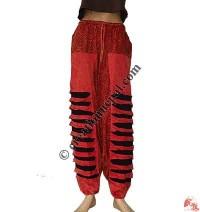 Razor cut and prints afgani trouser