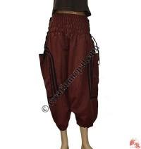 Cotton big pocket pipin three quarter trouser