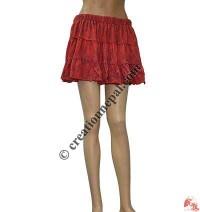 Printed fine rib mini skirt