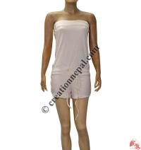 Fine rib cotton ladies beach wear