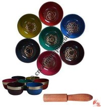 Chakra design singing bowl set of 7