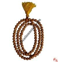 Natural color wood 10 mm 108 beads mala