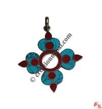 Square flower pendent