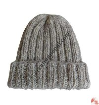 Two color mixed woolen hat3