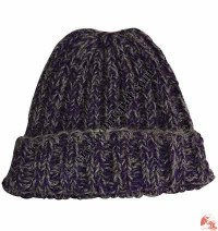 Two color mixed woolen hat4