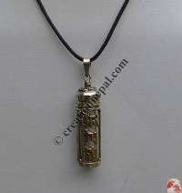 Brass mantra tube pendant