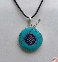 Endless knot round  pendant