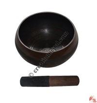Etching antique design singing bowl2