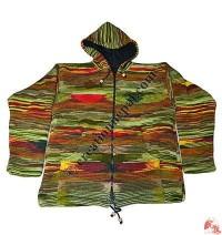 Woolen tie-dye jacket