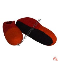 Two color joined felt shoes -  Adult