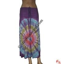 Viscose tie-dye 2 in 1 skirt top