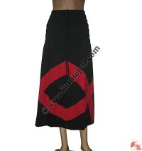 Fine rib cotton two in 1 skirt or top