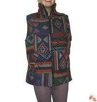 Woolen  patch-work jacket