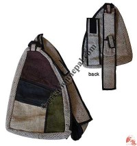 Single strap hemp patch-work bag