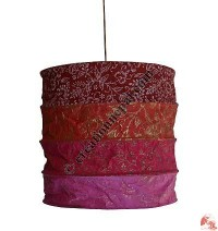 Lokta paper tube lamp shade