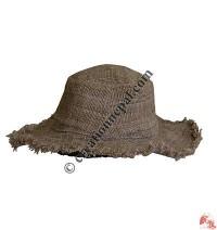 Natural hemp round hat