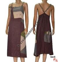 Patch-work cotton dress