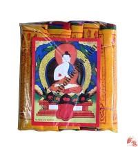 Fine cotton prayer flags 18 (rolls of 5)