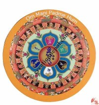 Om Mani Mandala fridge magnet