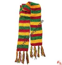 6-color stripes woolen muffler2