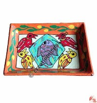 Mithila arts medium tray