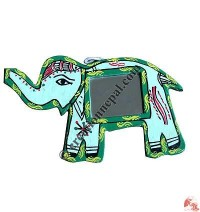 Mithila small elephant mirror