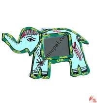 Mithila small elephant mirror