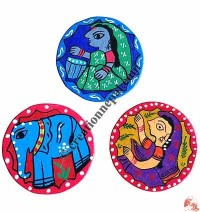 Mithila painted tea coaster