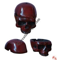 Skull design resin ashtray