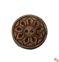 Carved bone button14 (packet of 10)