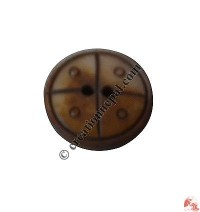 Carved bone button18 (packet of 10)