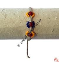 3-beads hemp hand band