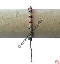 Braided hemp mixed beads hand band
