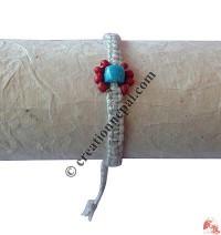 Center beads hemp hand band