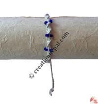 Lapis beads hemp braided hand band