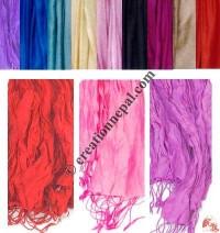 Pure silk plain color stole