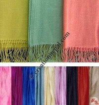 Pure silk plain color shawl
