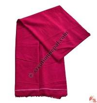 Raw silk Monk shawl-Pink