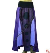 Lycra waist front layer cotton skirt2