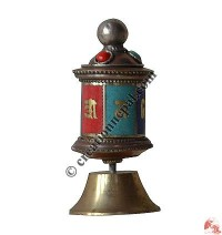 Tiny table stand prayer wheel2