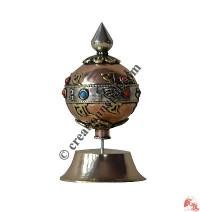 Globe shape stand prayer wheel