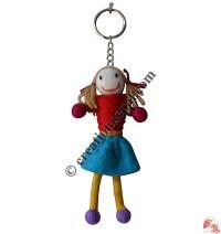 Girl design felt key ring