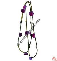 Soft wool felt flower necklace 1