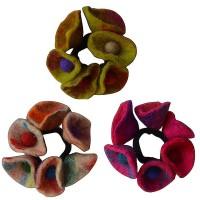 Colorful cone flower felt hairband