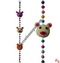 Felt beads-animal decorative hanging