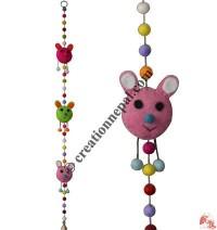 Felt beads-Happy decorative hanging