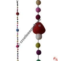 Felt beads-Mushroom decorative hanging